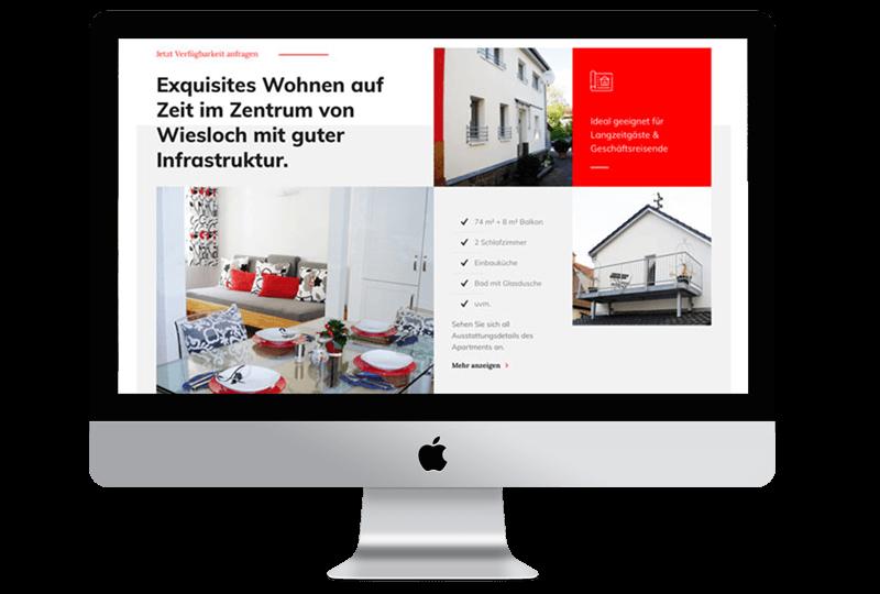 Sandcastle24-Portfolio Website von Schneider Apartment Wiesloch