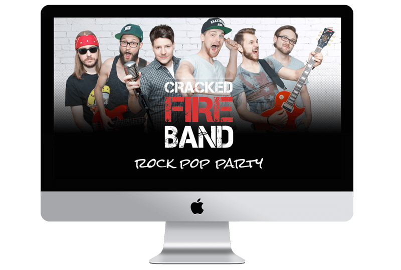 Cracked Fire Band Website von Sandcastle24