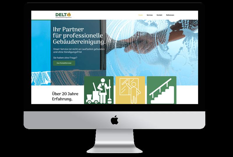 Delta Gebäudemanagement Website erstellt von Sandcastle24