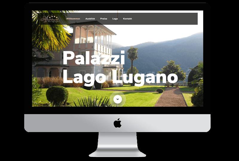 Sandcastle24 Portfolio Website von Lago Lugano