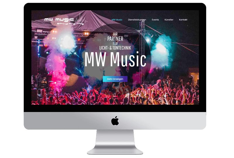 Sandcastle24 Portfolio Website von MW-Music