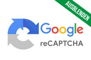 Google reCAPTCHA ausblenden Website